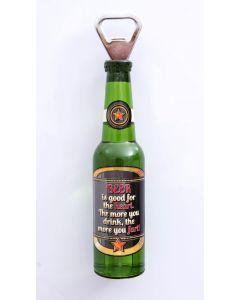 Magnetic Beer Bottle Shaped Bottle Opener - Drink, Heart, Fart