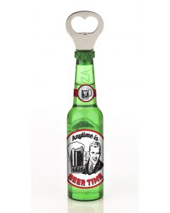 Magnetic Beer Bottle Shaped Bottle Opener - Anytime Is Beer Time