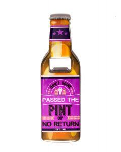 Beer Bottle Opener - No Return