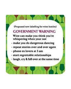 Coaster - Government Warning