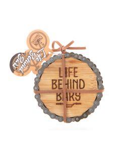 Bike Chain Coaster S/2 - Bars And Getawy