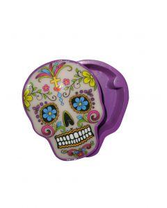 Stash Box Candy Skull - White