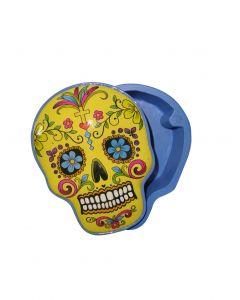 Stash Box Candy Skull - Yellow