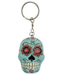 Keychain Candy Skull - Blue