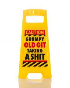 Desk Warning Sign - Grumpy Git