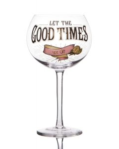 Gin Prohibition Glass - Let The Good Times Be Gin