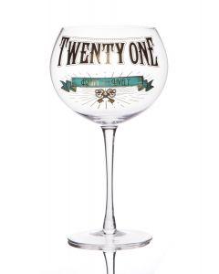 Gin Prohibition Glass - Age 21