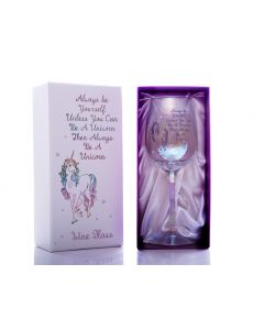 Lustre Wine Glass - Be A Unicorn
