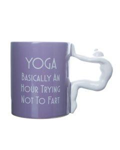 Yoga Mug Trying Not To Fart