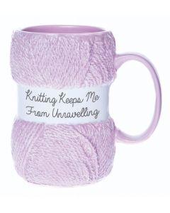 Knitting Mug - Unravelling