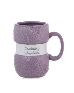 Crochet Mug - Crocheting Takes Balls