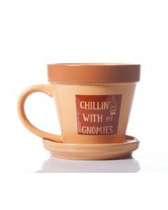 Plant Pot Mug - Chillin With My Gnomies