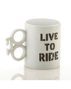 Live To Ride 14oz Mug With Bike Shaped Handle