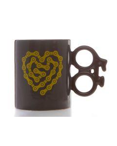 Bike Mug - Heart Chain (14oz)