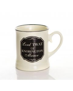 Lord Twat Of Knobington Manor  - Victoriana Style 10oz Gift Boxed Mug.