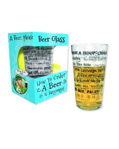 Pint Glass - How To Order A Beer In 26 Languages