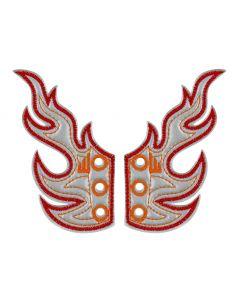Shwings - Flame - Silver Foil- Lace