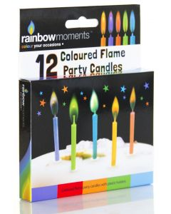 COLOUR FLAME CANDLE - PARTY 12 CANDLE
