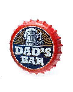 Bottle Cap Sign - Dads Bar