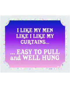 Plaque - Like Men Like Curtains