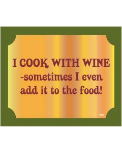 Plaque - Cook With Wine
