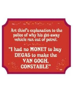Plaque - Art Thief
