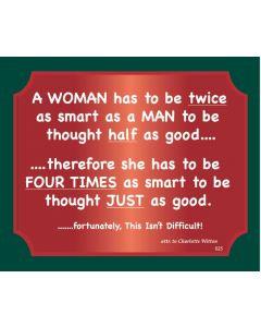 Plaque - Woman Twice