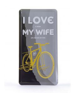 Cycle Sign - I Love My Wife