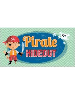 Retro Sign - Pirates Hideout