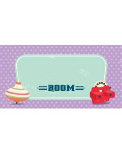Retro Sign - Blank Spinning Top (Girl)
