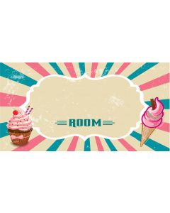 Retro Sign - Blank Cupcake (Girl)