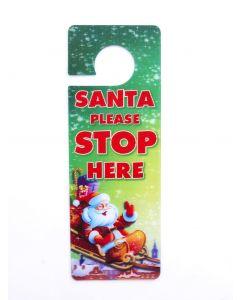 3d Xmas Door Hangers - Santa Stop Here