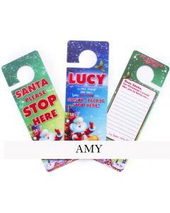 3d Xmas Door Hangers - Amy