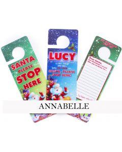 3d Xmas Door Hangers - Annabelle