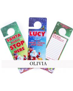 3d Xmas Door Hangers - Olivia