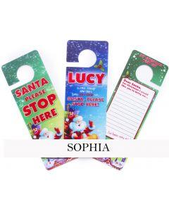 3d Xmas Door Hangers - Sophia
