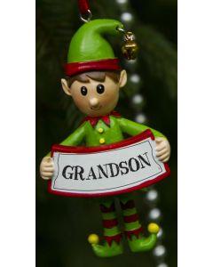 Elf Decoration  - Grandson