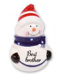 Snowman Decoration - Best Brother Blue