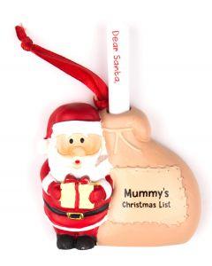 Santa List Sack - Mummys Christmas Lis