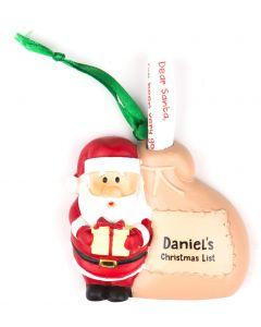Santa List Sack - Daniel