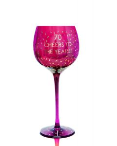 OPULENT WINE GLASS - AGE 70