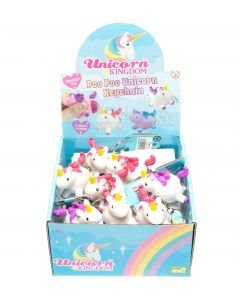 SQUEEZY POO UNICORN KEYRING