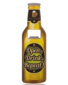 BEER BOTTLE OPENER - OPEN DRINK REPEAT