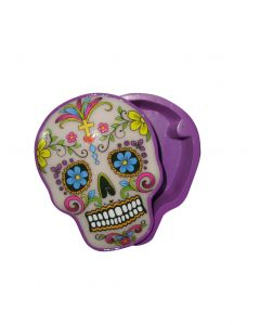 STASH BOX CANDY SKULL - WHITE