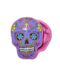 STASH BOX CANDY SKULL - PURPLE
