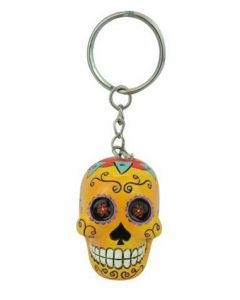 KEYCHAIN CANDY SKULL - ORANGE