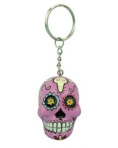 KEYCHAIN CANDY SKULL - PINK