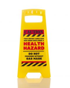 DESK WARNING SIGN - HEALTH HAZARD