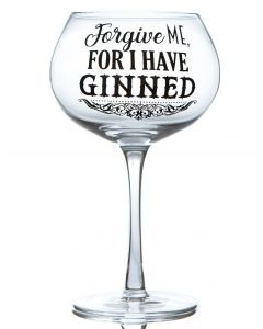 GIN BLOOM GLASS - FORGIVE ME FOR I HAVE GINNED