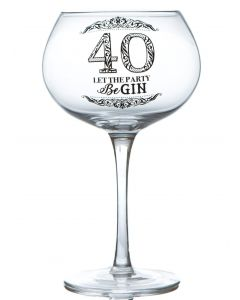 GIN BLOOM GLASS - 40 LET THE PARTY BEGIN